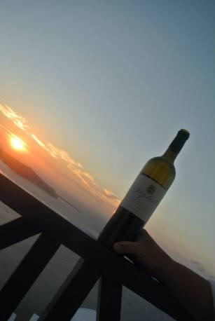 wine sunset